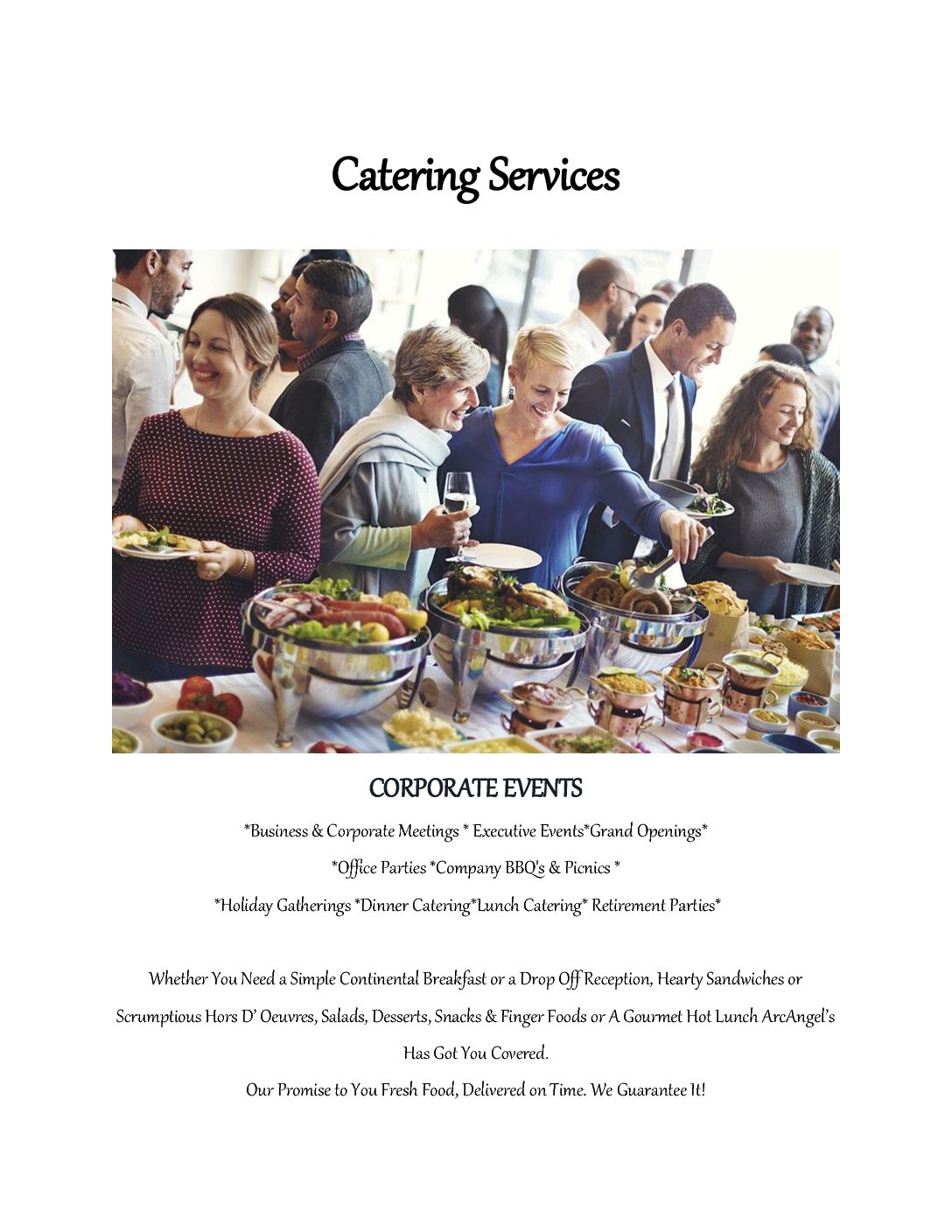 Catering Services CORPORATE WEBSITE FINAL 2017